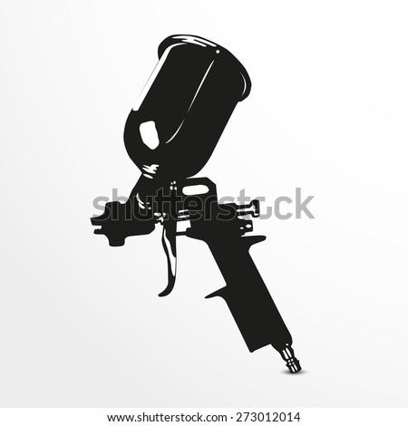 Guns Logo Vector Stock-vector-spray-gun-vector