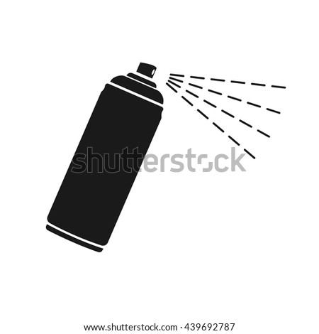 Spray icon Vector. Flat icon Spray. Flat vector illustration for web banner, web and mobile. Vector Spray icon graphic. Vector icon isolated on white background. Spray vector icon in black.