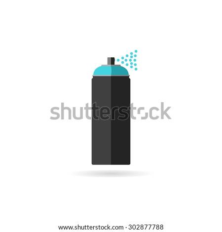 Spray paint - stock vector