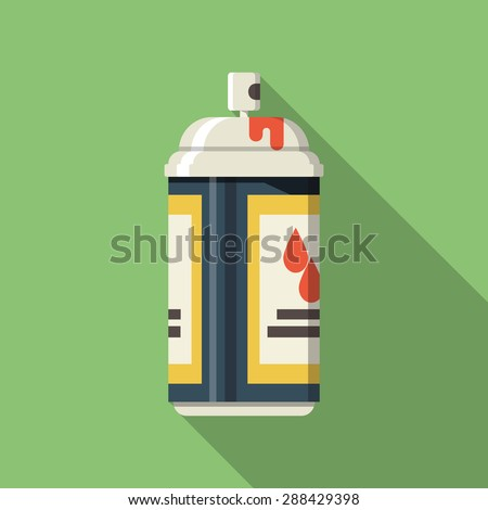 Spray Paint Can .Vector Flat Icon - stock vector