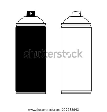 spray paint silhouette stock vector hd royalty free 229953643 rh shutterstock com spray can vector free spray can cap vector