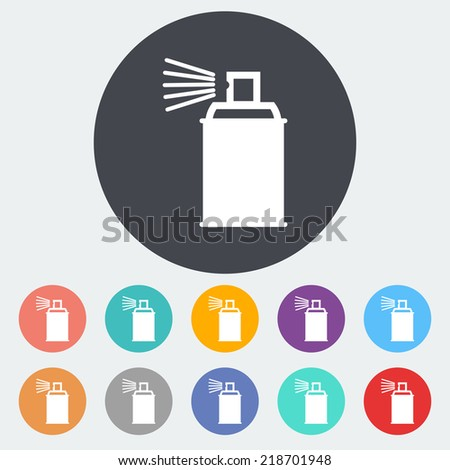 Spray with chemicals. Single flat icon on the circle. Vector illustration. - stock vector