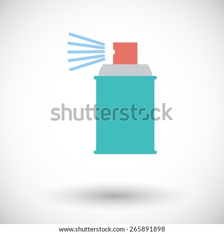 Spray with chemicals. Single flat icon on white background. Vector illustration. - stock vector