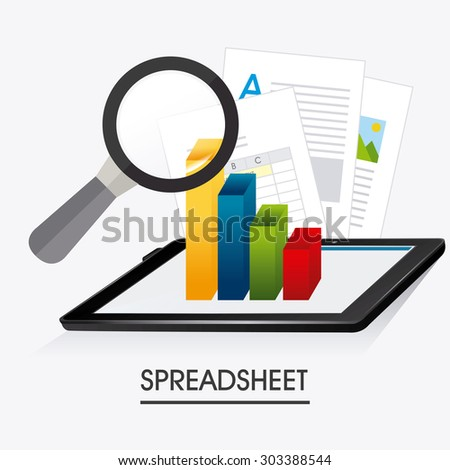Spreadsheet digital design, vector illustration eps 10.
