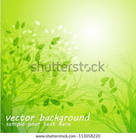 Spring abstract background - stock vector
