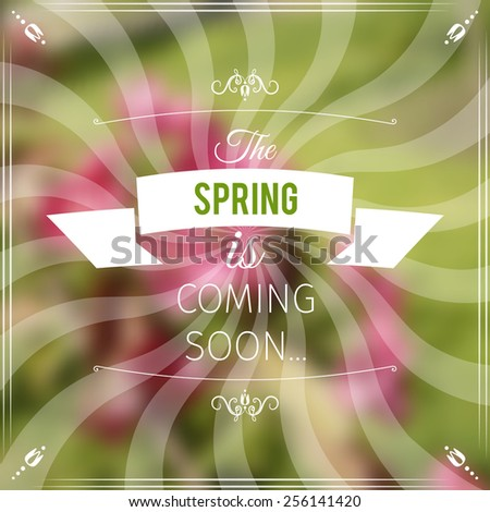 spring abstract mesh background with decorative elements - stock vector
