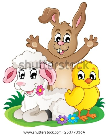 Spring animals theme image 1 - eps10 vector illustration. - stock vector