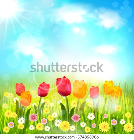 Spring Background Stock Vector 574858906