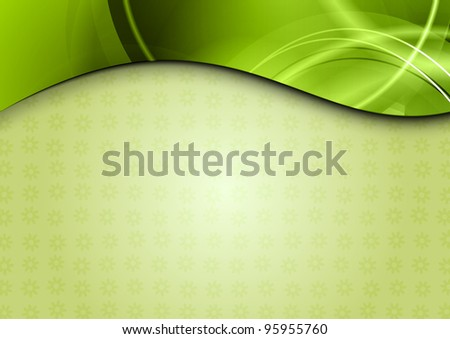 spring background in the green color - stock vector