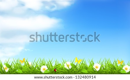 Spring background vector - stock vector