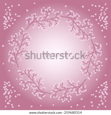 spring background with blooming branches