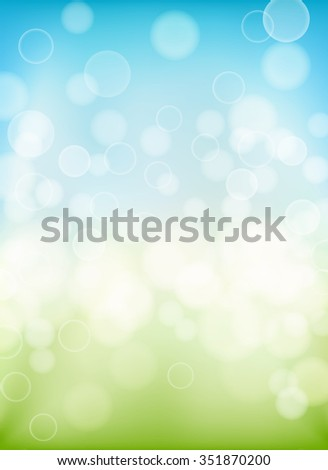 spring background with bokeh effects lights. vector - stock vector