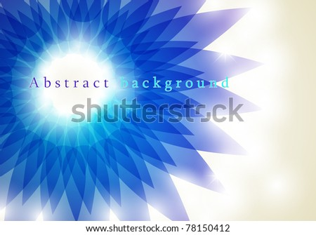 Spring background with space - stock vector