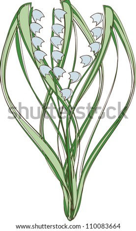 spring bouquet - stock vector
