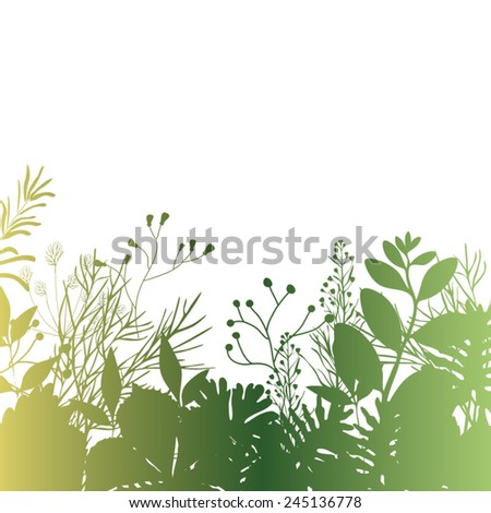 Spring branches and leaves. Vectorized watercolor drawing. - stock vector