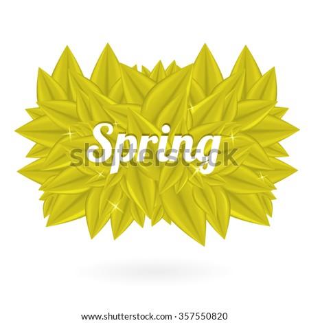 Spring Bubble for speech - stock vector