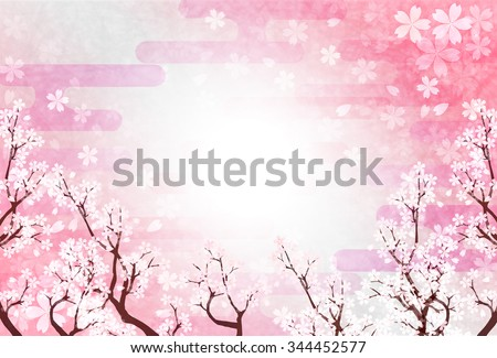 Spring cherry New Year's card background
