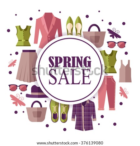 spring clothes. sale - stock vector