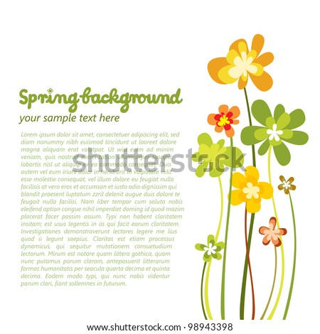 Spring colorful flower background - stock vector
