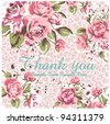 spring cute vintage rose pattern background - stock vector