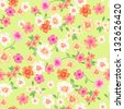 spring daisies seamless vector background - stock vector