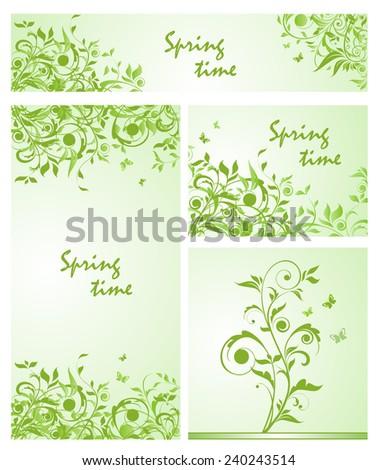 Spring design. Collection - stock vector