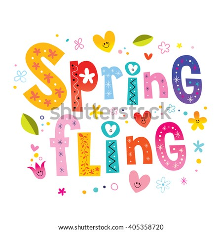 Spring fling - stock vector