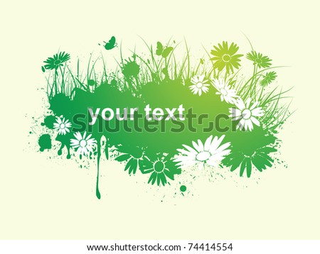 spring floral banner - stock vector