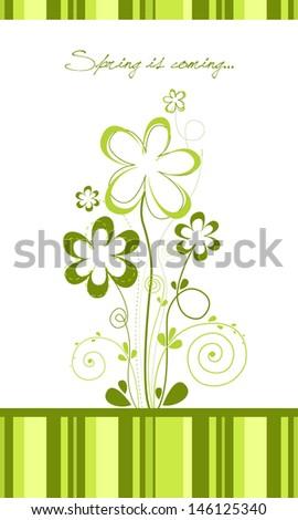 Spring floral bouquet - stock vector