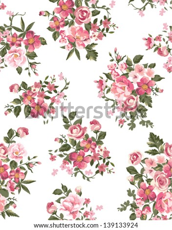 spring floral ,flower seamless pattern background - stock vector