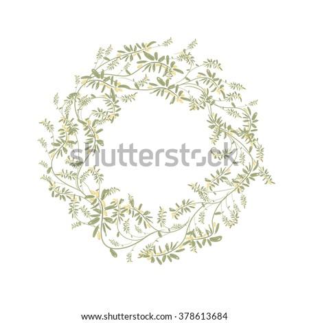 Spring floral frame for your design - stock vector