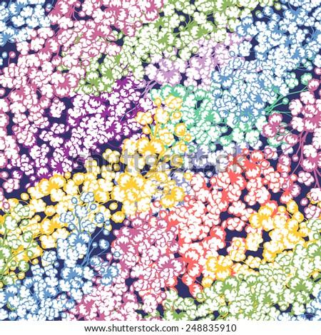 Spring floral garden seamless pattern , vector illustration - stock vector