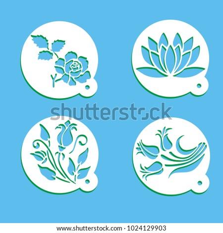 Spring flower stencils stock vector 1024129903 shutterstock spring flower stencils mightylinksfo