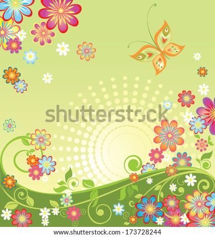 Spring flowers - stock vector