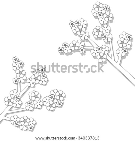 Spring Flowers Coloring Book Stock Vector 340337813