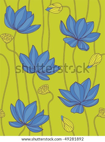 Spring flowers - seamless pattern - stock vector
