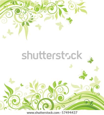 Spring green banner - stock vector