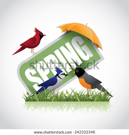 Spring icon EPS 10 vector stock illustration - stock vector