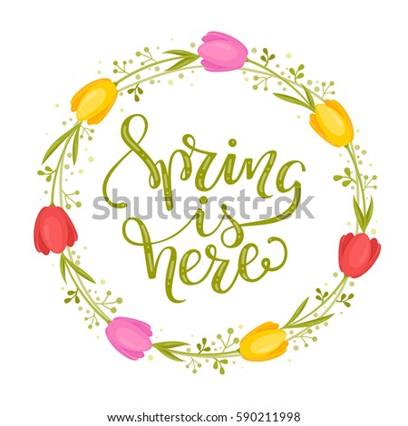 spring is here stock images royaltyfree images amp vectors