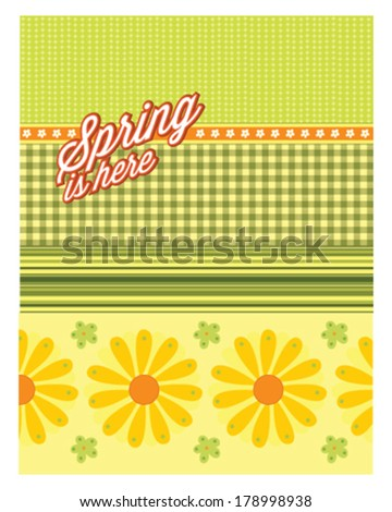Spring is here multiple patterns - stock vector