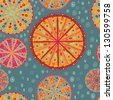 spring kaleidoscope blue seamless pattern - stock vector