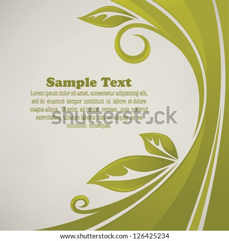 spring leaves, vector ecological card or poster