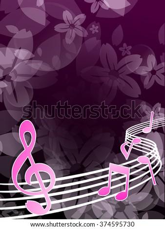 Spring melody - stock vector