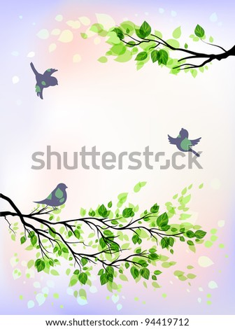 Spring morning eps 10 - stock vector