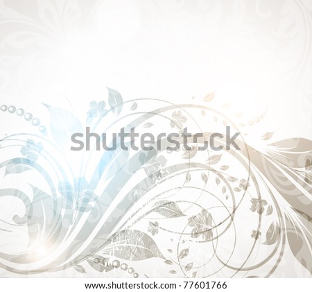 Spring or summer retro floral bright background. Vector - stock vector