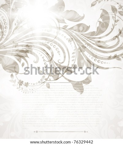 Spring or summer retro floral bright background. Vector eps 10. - stock vector
