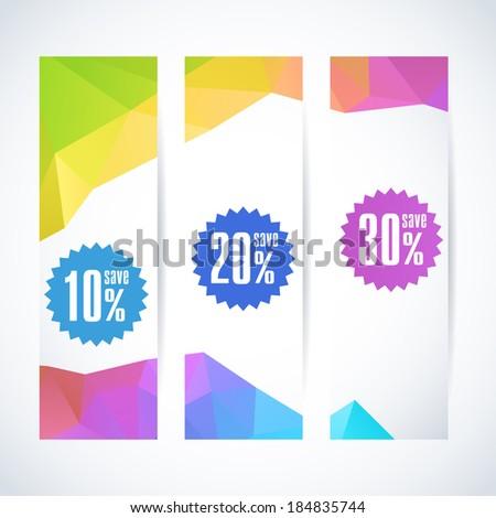 Spring or summer Sale stylish banner. Vector illustration.  - stock vector