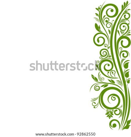 Spring ornament on white background. Illustration with free space for Your design - stock vector