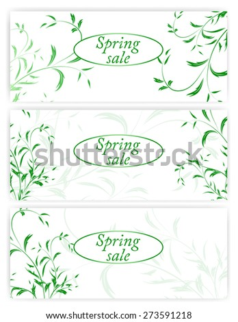 Spring sale banners or billboards with tulips and daisies. EPS 10 vector  Illustration for greeting card, ad, promotion, poster, flier, blog, article, social media, marketing - stock vector