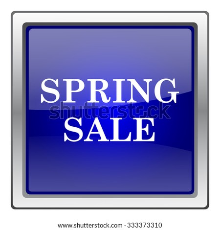 Spring sale icon. Internet button on white background. EPS10 vector.